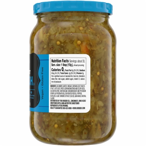 Kroger® Sugar Free Sweet Pickle Relish Perspective: right