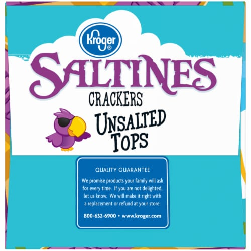 Kroger® Unsalted Tops Saltines Crackers Perspective: right