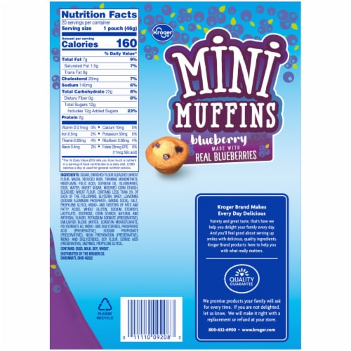 Kroger® Blueberry Mini Muffins Perspective: right