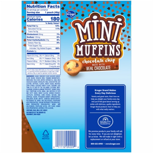 Kroger® Chocolate Chip Mini Muffins 20 Count Perspective: right