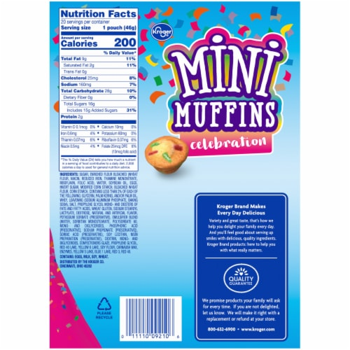 Kroger® Celebration Mini Muffins Perspective: right