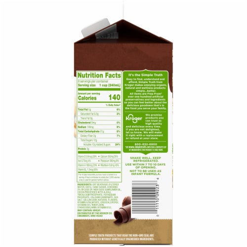 Simple Truth Chocolate Oat Milk Perspective: right