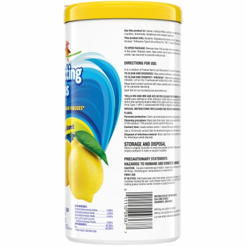 Check This Out Lemion Scent Disinfecting Wipes Perspective: right
