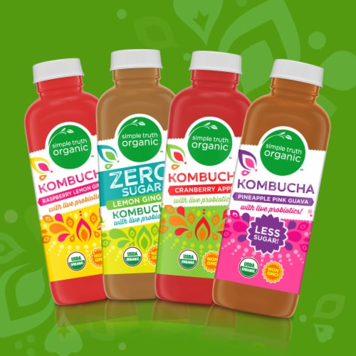 Simple Truth Organic™ Pineapple Pink Guava Kombucha Perspective: right