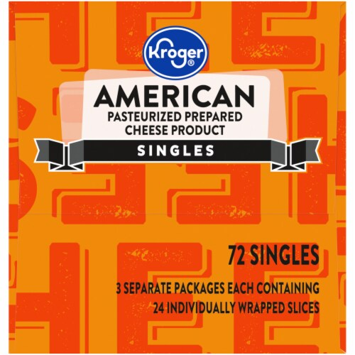 Kroger® American Processed Cheese Singles Perspective: right