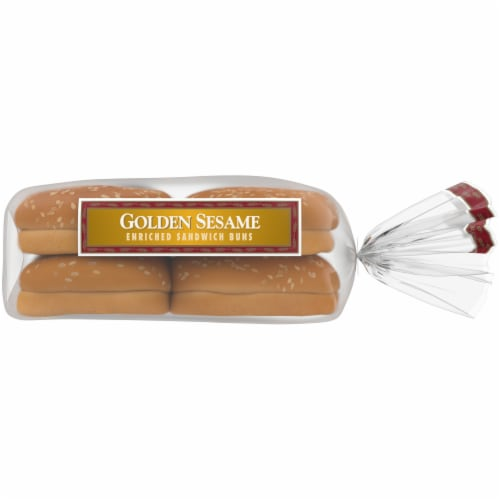 Western Hearth® Golden Sesame Extra Large Enriched Sandwich Buns Perspective: right
