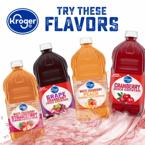 Kroger® Cranberry Raspberry Flavored Juice Cocktail Perspective: right