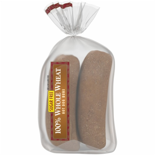 Western Hearth® Sugar Free 100% Whole Wheat Extra Large Hot Dog Buns Perspective: right