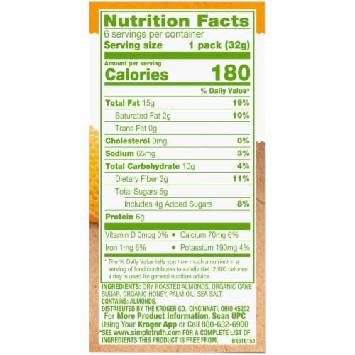 Simple Truth® Honey Almond Butter Pouch Perspective: right