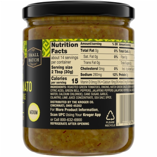 Private Selection® Roasted Green Tomato & Hatch Chili Salsa Perspective: right