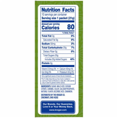 Kroger® Naturally Flavored Spiced Cider Instant Drink Mix Perspective: right
