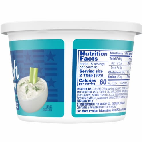 Kroger® Creamy Ranch Sour Cream Dip & Spread Perspective: right