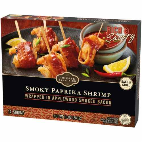 Private Selection® Applewood Smoked Bacon Wrapped Smoky Paprika Shrimp Perspective: right