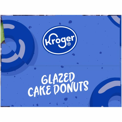 Kroger® Blueberry Glazed Cake Donuts Perspective: right