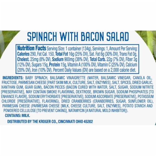 Kroger® Spinach with Bacon Salad Kit Perspective: right