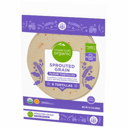 Simple Truth Organic™ Sprouted Grain Flour Tortillas Perspective: right