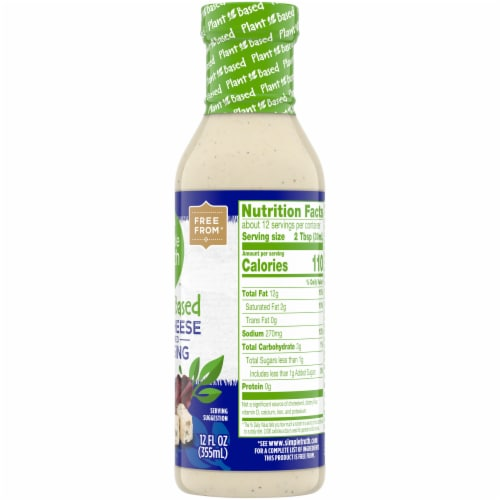Simple Truth™ Plant Based Blue Cheese Dressing Perspective: right
