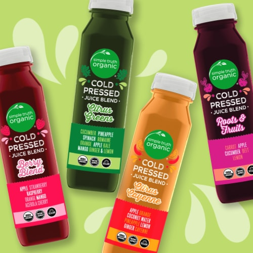 Simple Truth Organic® Cold Pressed Citrus Raspberry Juice Blend Perspective: right