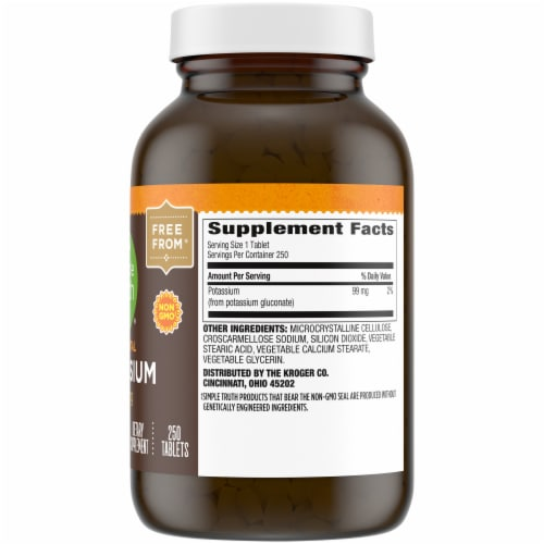 Simple Truth® Elemental Potassium Tablets 99mg Perspective: right