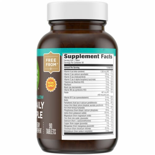 Simple Truth® Easy-To-Swallow One Daily Multiple Vitamin Tablets Perspective: right