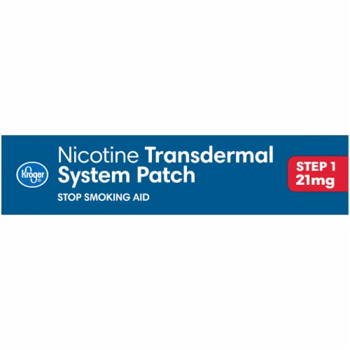 Kroger® Step 1 Stop Smoking Aid Nicotine Transdermal System Patches 21mg Perspective: right
