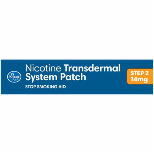Kroger® Step 2 Stop Smoking Aid Nicotine Transdermal System Patches Perspective: right