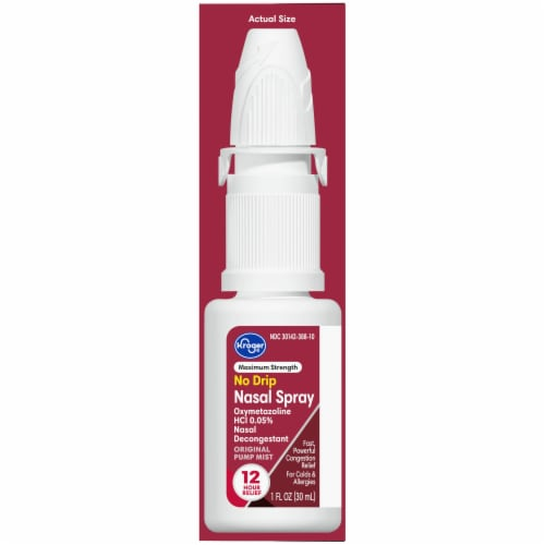 Kroger® Maximum Strength No Drip Nasal Spray Perspective: right