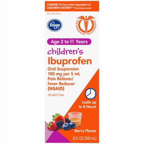 Kroger® Berry Flavor Children's Ibuprofen Perspective: right