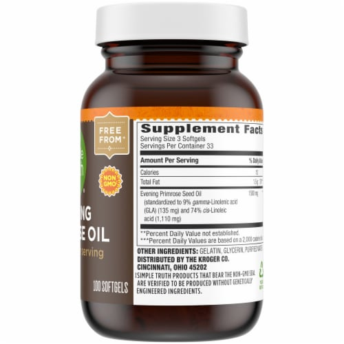 Simple Truth® Evening Primrose Oil Softgels 1500mg Perspective: right