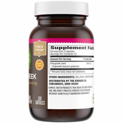 Simple Truth® Fenugreek Capsules 1860mg Perspective: right