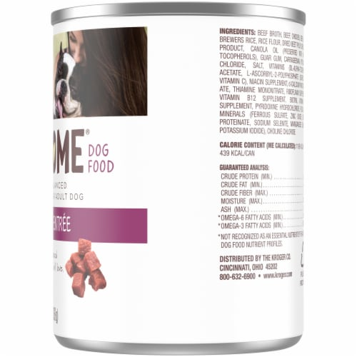 Luvsome® Beef & Rice Entree Wet Dog Food Perspective: right
