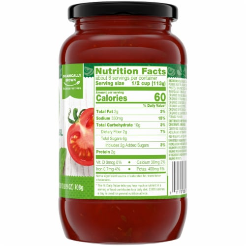 Simple Truth Organic™ Tomato Basil Pasta Sauce Perspective: right