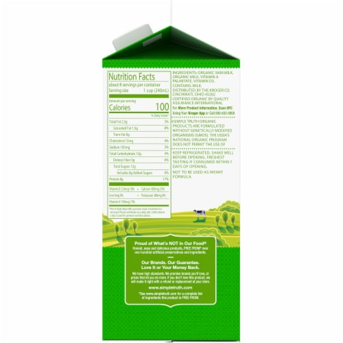 Simple Truth Organic® 1% Low Fat Milk Perspective: right