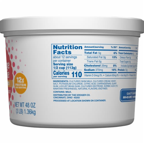 Kroger® 4% Milkfat Small Curd Cottage Cheese Perspective: right