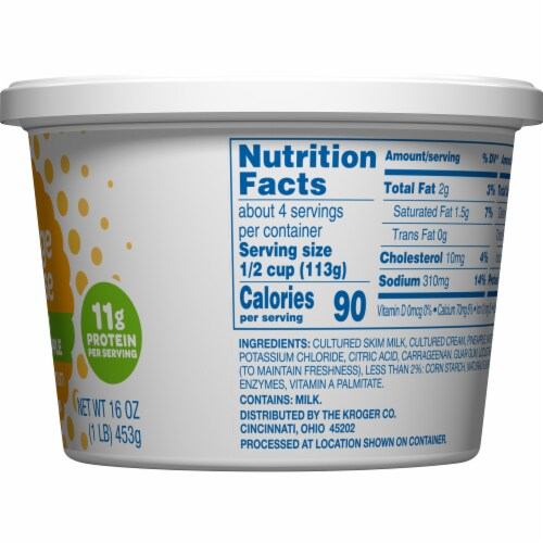 Kroger® Low Fat Pineapple Small Curd Cottage Cheese Perspective: right