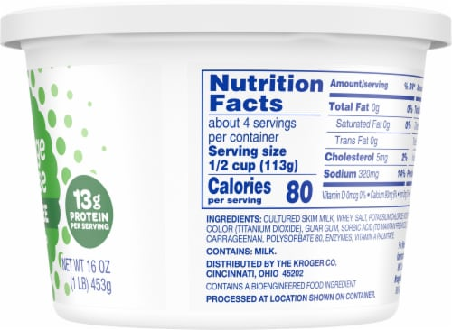 Kroger® Small Curd Fat Free Cottage Cheese Perspective: right