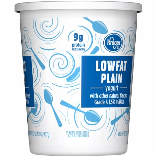 Kroger® Plain Lowfat Yogurt Tub Perspective: right