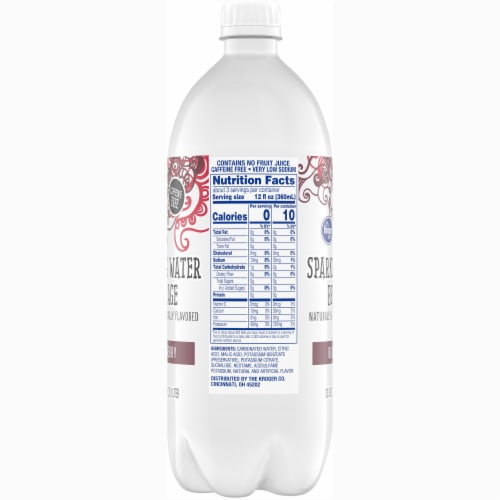 Kroger® Black Cherry Sparkling Water Perspective: right