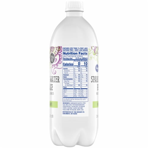 Kroger® White Grape Sparkling Water Perspective: right