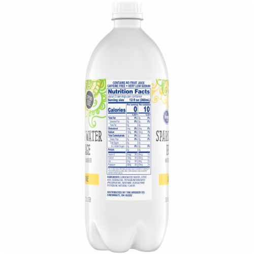 Kroger® Lemon Lime Sparkling Water Perspective: right
