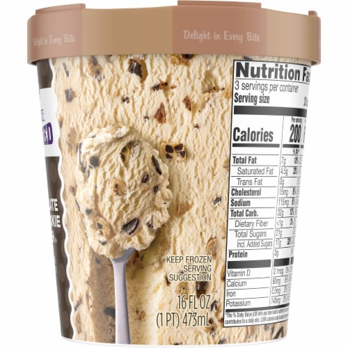 Kroger® Deluxe Jammed Chocolate Chip Cookie Dough Ice Cream Perspective: right