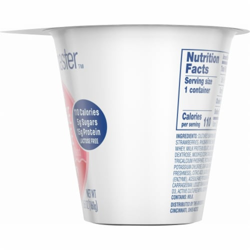 Kroger® CarbMaster™ Strawberry Rhubarb Low Fat Cottage Cheese Perspective: right