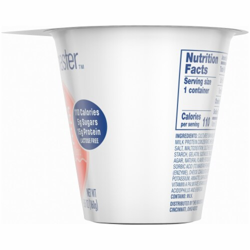 Kroger® CarbMaster™ Peach Low Fat Cottage Cheese Perspective: right
