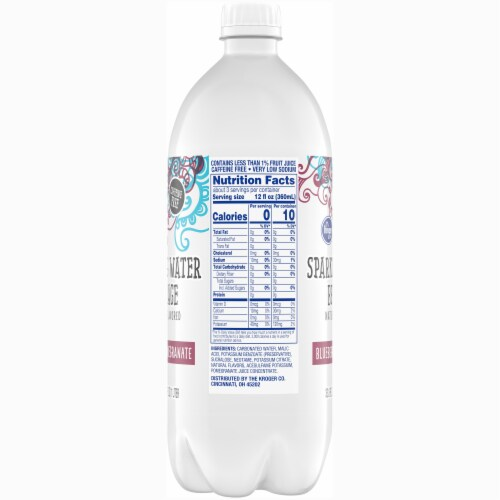 Kroger® Blueberry Pomegranate Sparkling Water Perspective: right