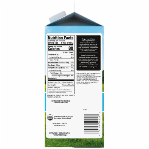 King Soopers® City Market® Organic Fat Free Milk Perspective: right