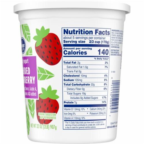 Kroger® Blended Strawberry Lowfat Yogurt Perspective: right