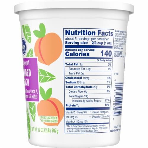 Kroger® Blended Peach Lowfat Yogurt Perspective: right