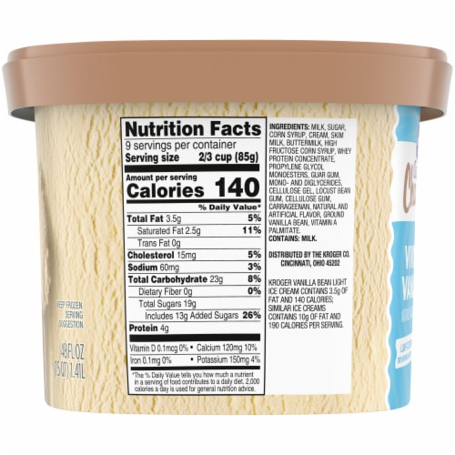 Kroger® Deluxe Vividly Vanilla Churned Light Ice Cream Perspective: right