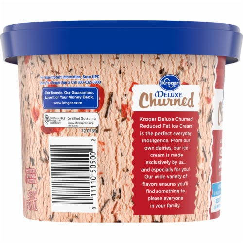 Kroger® Deluxe Churned Reduced Fat Lactose Free Cherry Cordial Ice Cream Perspective: right