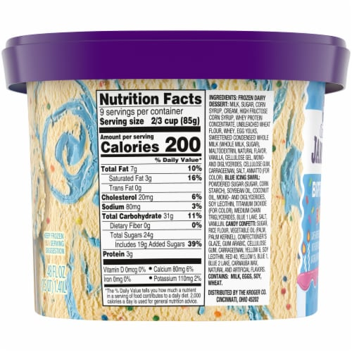 Kroger® Deluxe Jammed Birthday Bash Ice Cream Perspective: right
